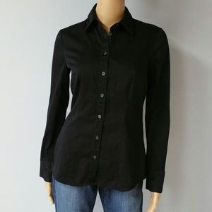 The Limited Black button down shirt. Size Small